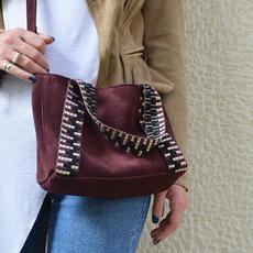 """Eugenia"" Bordeaux Mini Tote Bag"