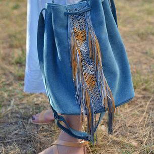 """""""Zenobia"""" Big Ocean Blue Bag"""