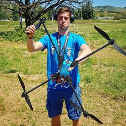 Big drone post crash Flitefest