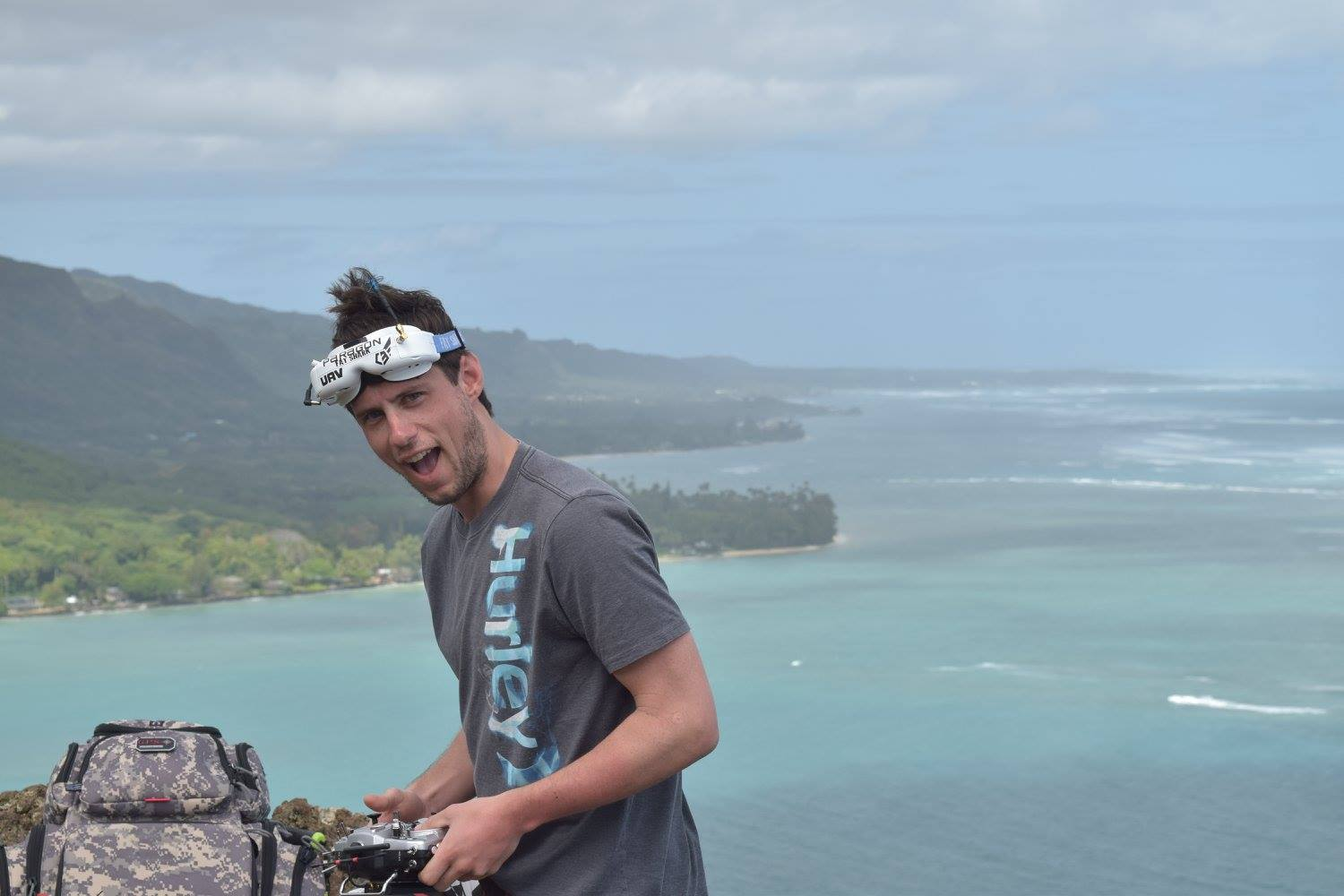 Flying Drones Cliff Hawaii