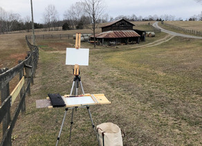 Plein Air with Charlie and Picasso