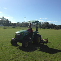 Lyn on tractor