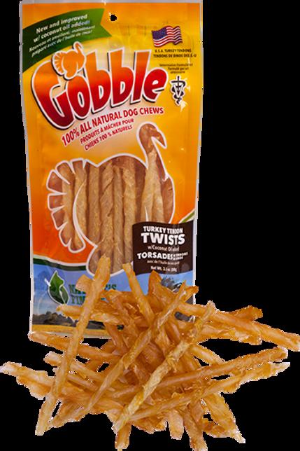 Gobble! Turkey Tendon Twists 3.5 oz Bag