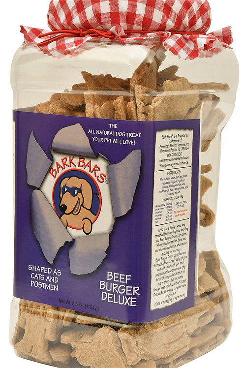 Bark Bars Beef Burger Deluxe, 2.5 lb Canister
