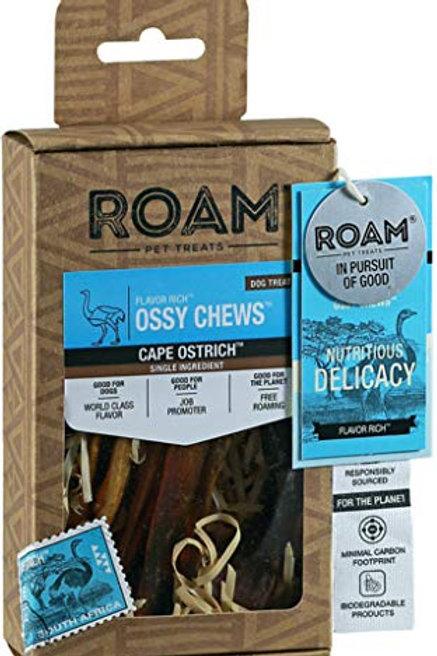 ROAM Pet Treats Ossy Chews Cape Ostrich, 3 oz.