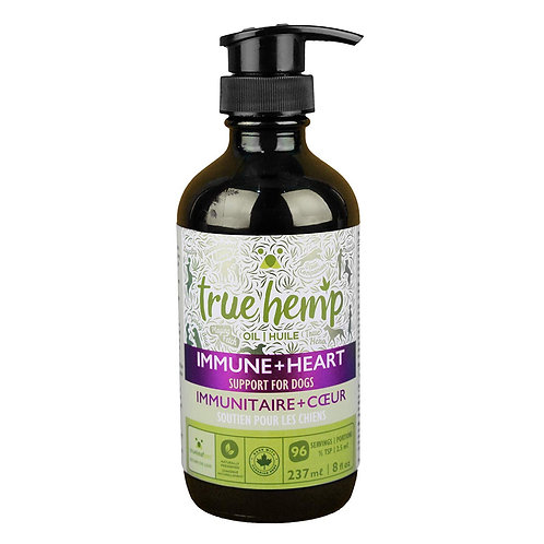 True Hemp Immune+Heart Oil Support for Dog - 8 oz