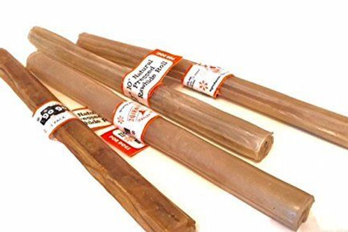 "10"" Natural Pressed GoGo Rawhide Sticks- 15 count"