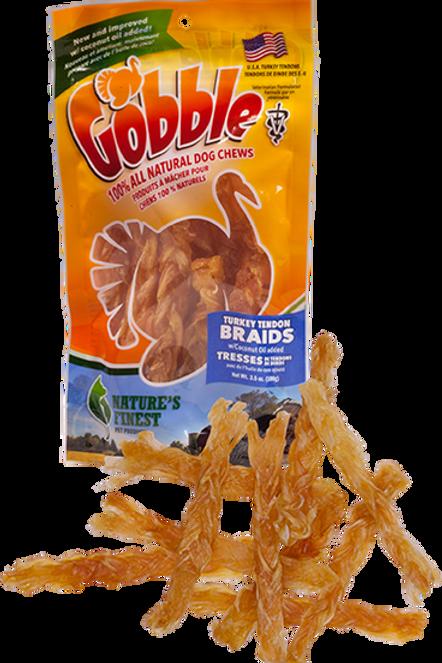 Gobble! Turkey Tendon Braids 3.5 oz Bag