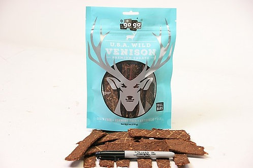 GoGo 6 oz. Stressless Venison Jerky Bars USA Free Range Grass Fed
