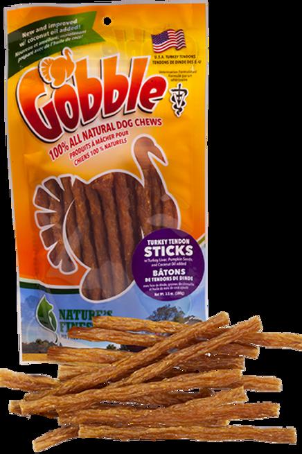 Gobble! Turkey Tendon Sticks 3.5 oz Bag