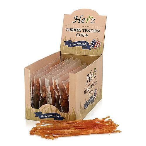 Case of Herz Turkey Tendon Strips, Box of 10 Bags