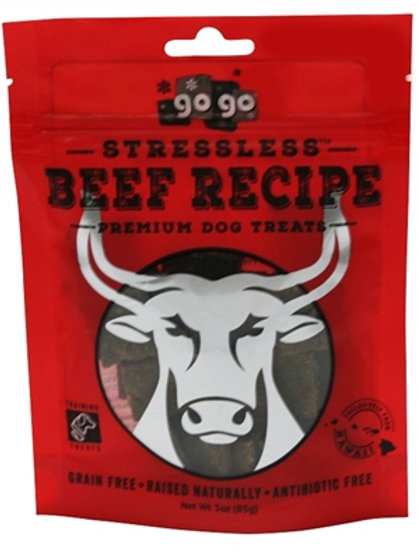 GoGo Stressless Beef Jerky Treats- 3oz