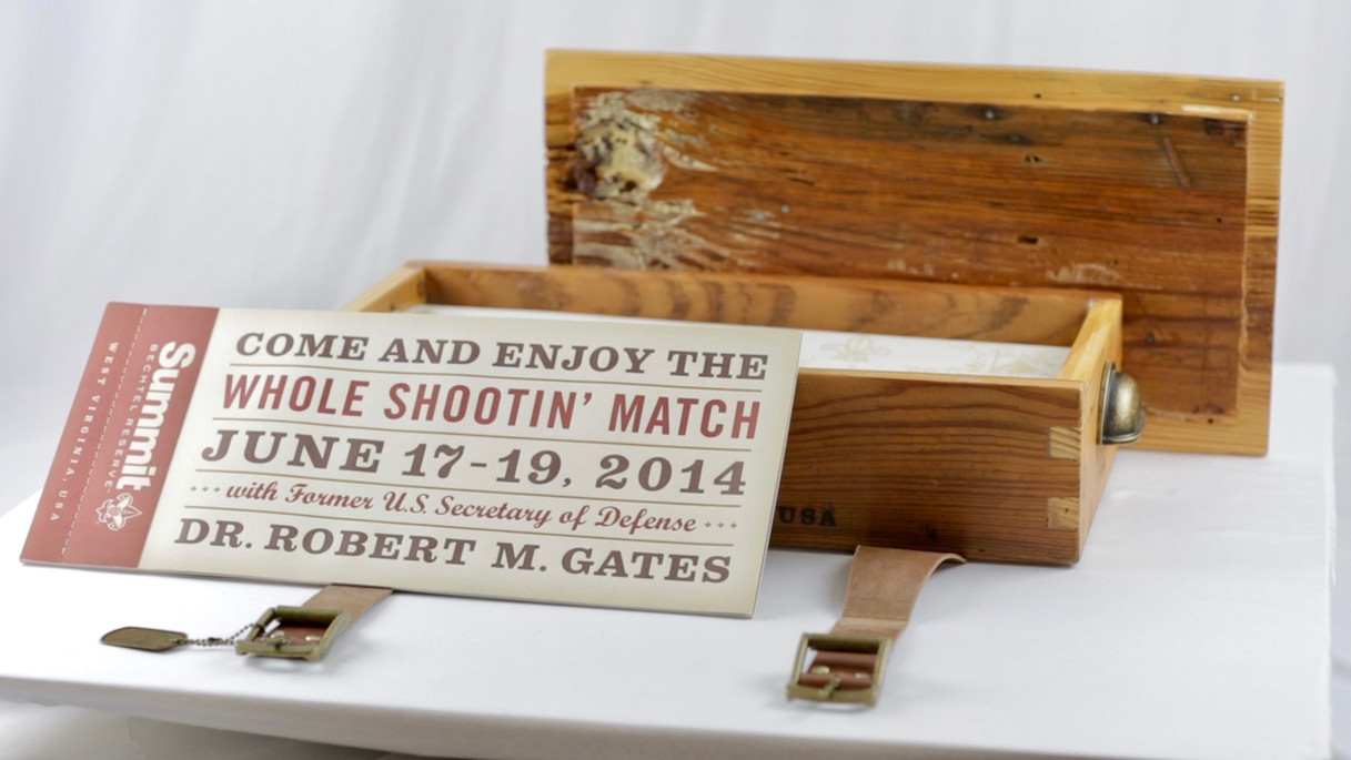 Boy Scouts Retreat Invitation & Box