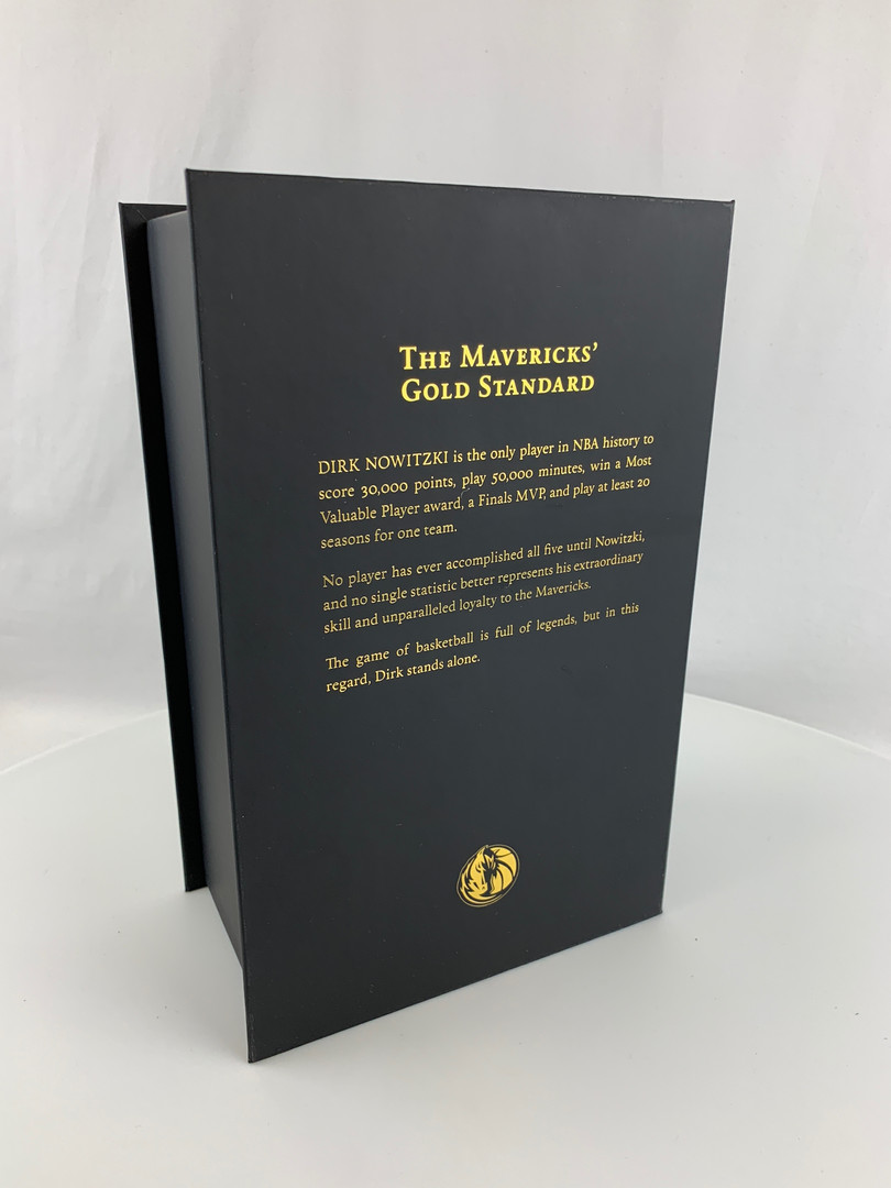 Dirk Nowitzki Mavericks Box