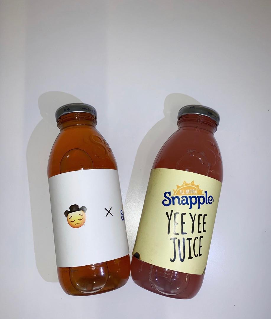 Snaple Yee Yee Juice Labels for Lil Nas X
