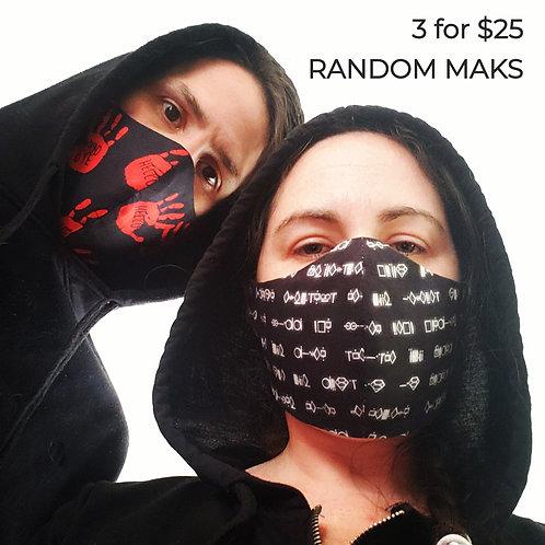 3 for $25 - Random Masks