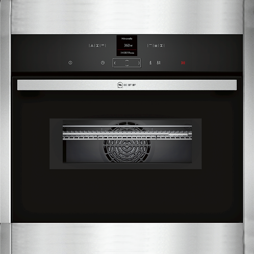 N 70, BUILT-IN COMPACT OVEN WITH MICROWAVE FUNCTION, STAINLESS STEEL C17MR02N0B