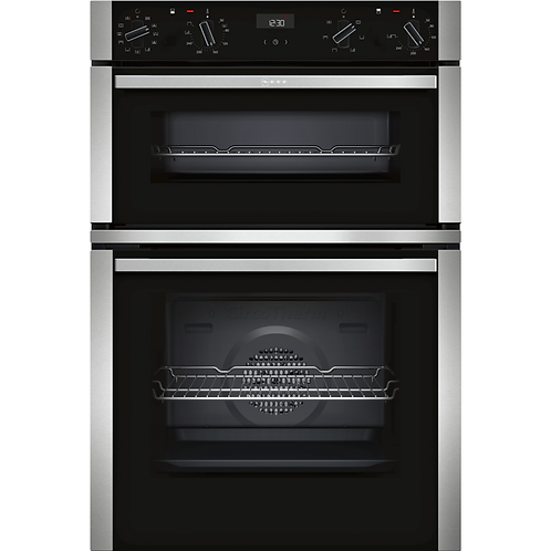 NEFF N50 U1ACE5HN0B Six Function Electric Built In Double Oven - Stainless Steel