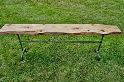Live Edge Wood Sofa Table