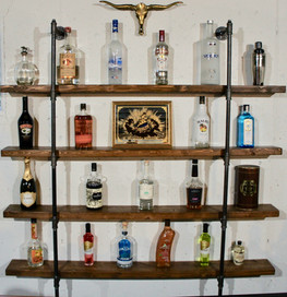 Rustic Bar Shelving with Pipe