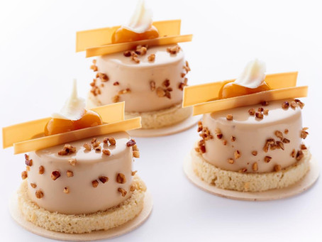 Пирожное «Пекан, манго, маракуйя» Автор:  (Jimmy Mornet, Park Hyatt Vendôme, Paris)