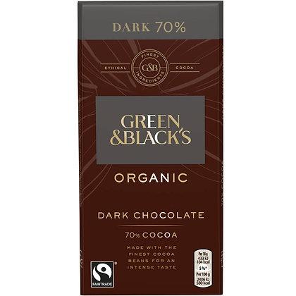 G&B's Organic Dark 70% 90g Bar