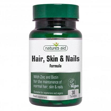 Natures Aid Hair, Skin and Nails Formula 30 Tablets