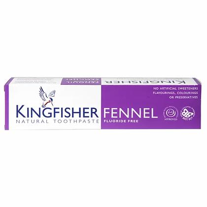 Kingfisher Fluoride Free Fennel Toothpaste 100ml