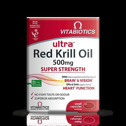 Vitabiotics Ultra Red Krill Oil 500 mg 30 Capsules