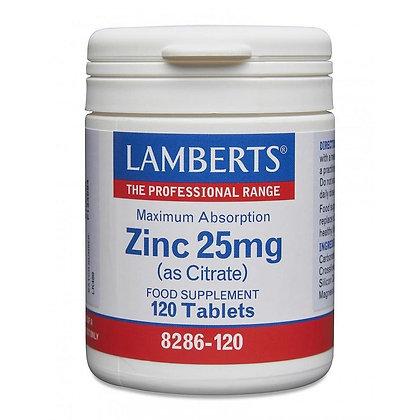 Lamberts Zinc 25mg (as Citrate) 120 Tablets