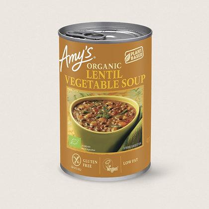 Amy's Kitchen Organic Lentil Vegetable Soup 400g