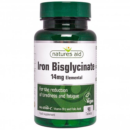 Natures Aid Iron Bisglycinate 90 Tablets