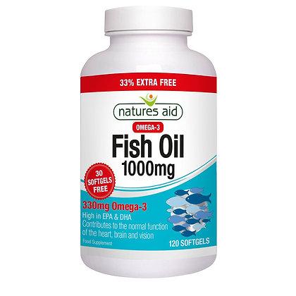 Natures Aid Fish Oil 1000mg 120 Softgels