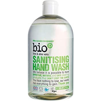 Bio-D Sanitising Lime Aloe Vera Hand Wash 500ml