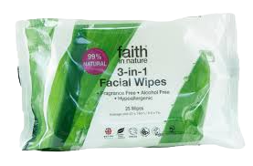 Faith in Nature 3-in-1 Facial Wipes 25 Wipes