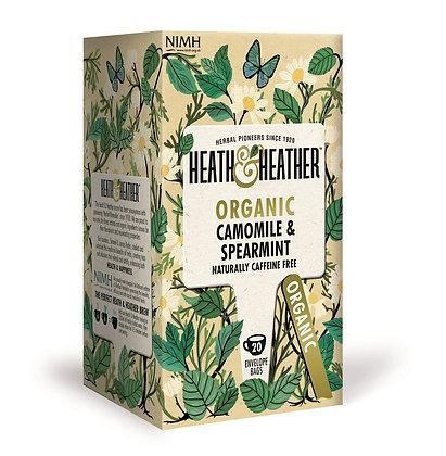 Heath & Heather Organic Camomile & Spearmint 20 Bags