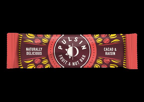 Pulsin Cacao & Raisin Fruit & Nut Bar