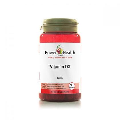 Power Health Vitamin D3 5000iu 90 Capsules