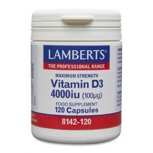 Lamberts Vitamin D3 4000iu (100µg) 120 Capsules