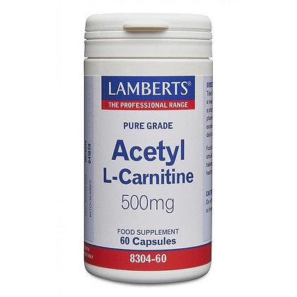 Lamberts Acetyl L-Carnitine 500mg 60 Capsules