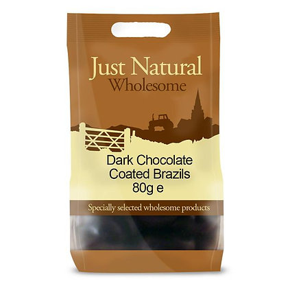 Just Natural Dark Chocolate Coated Brazils 80g