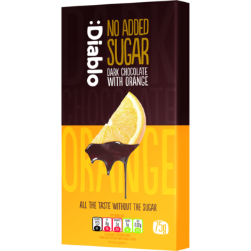 Diable No Added Sugar Dark Chocolate With Orange