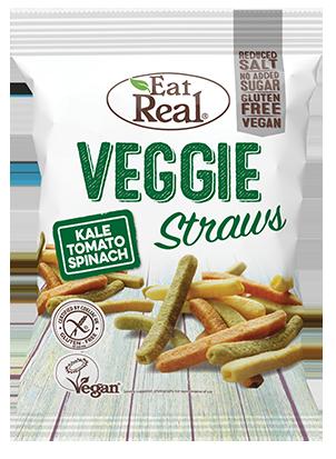 Eat Real Kale, Tomato, Spinach & Potato Veggie Straws 113g