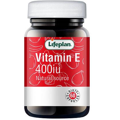 Lifeplan Vitamin E 400iu 60 Capsules