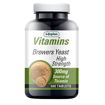Lifeplan Brewers Yeast Tablets 300mg 500 Tablets