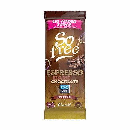 Plamil So Free Organic Espresso Dark Chocolate 80g