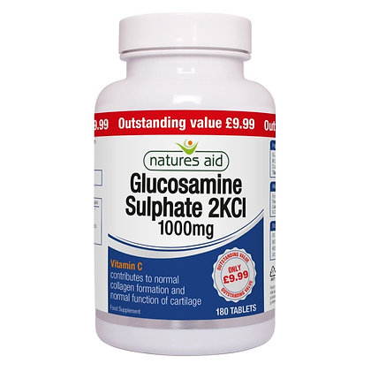 Natures Aid Glucosamine Sulphate 1000mg 90 Tablets