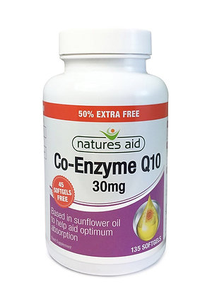 Natures Aid Co-enzyme Q10 30mg 135 Softgels