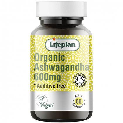 Lifeplan Organic Ashwagandha 600mg 60 Capsules