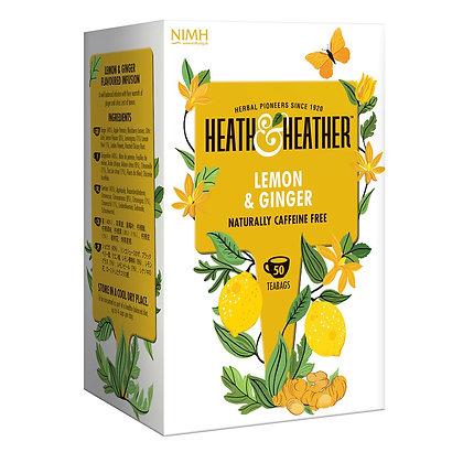 Heath & Heather Lemon & Ginger 50 bags
